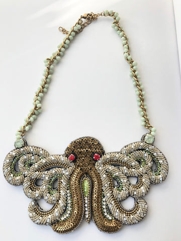 Beaded Octopus Necklace