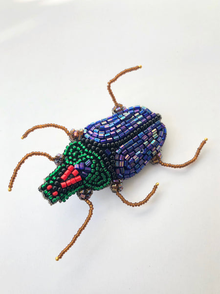 Scarab Bug Brooch