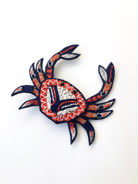 Crab brooch