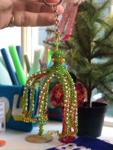 Green Octopus Keyring