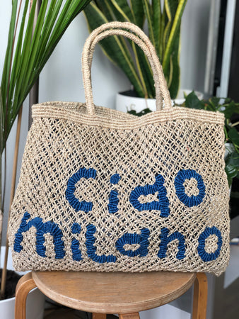 Ciao Milano- Natural with Cobalt