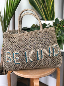 Be Kind- Khaki with natural & ocean