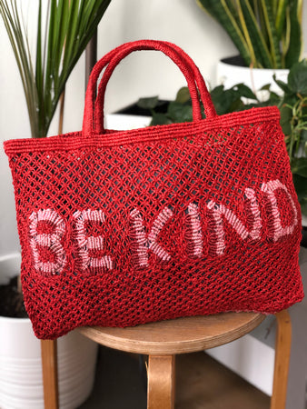 Be Kind- Red with rose & natural