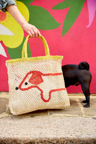 Sausage Dog Bag- Yellow Handle (PRE ORDER to arrive end NOVEMBER)