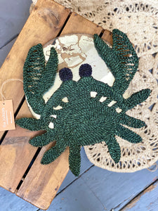 Crab placemat- Forest Green