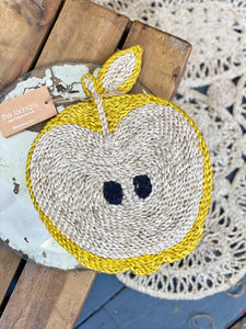 Apple placemat – Yellow