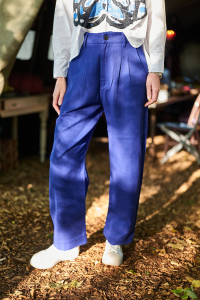 Monochrome Bic Blue Trousers