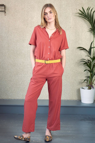 Short Sleeved Paros Jumpsuit