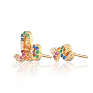 LOVE- Rhinestone earrings