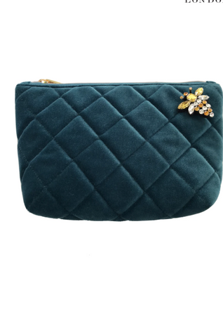 Quilted Nolita bag with pin - Teal