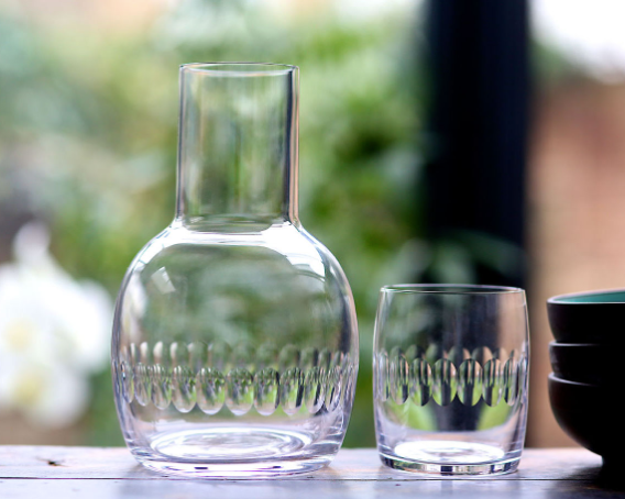 Lens Carafe and Glass