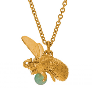 Bee with Aventurine necklace