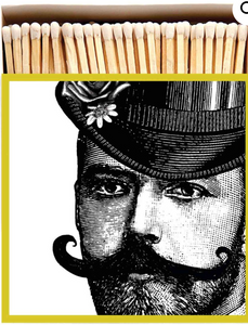 Man with a Moustache Matches