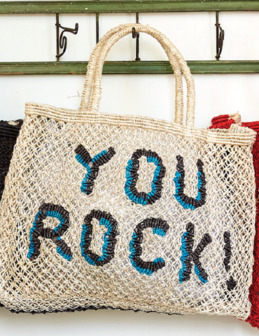 You rock! - Natural with cobalt and black
