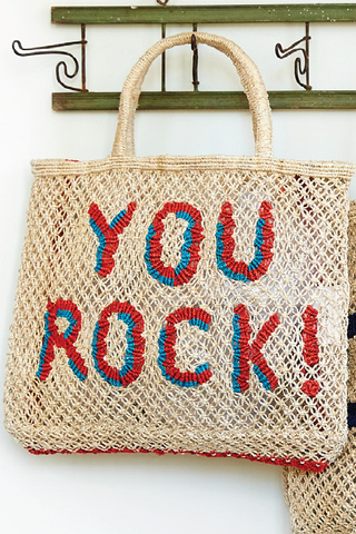 You Rock! - Natural with Red and Ocean