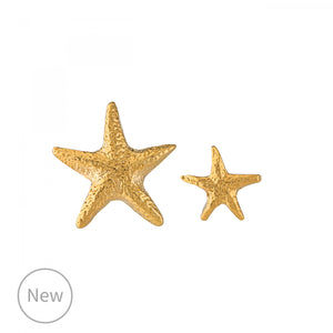 Asymmetric Starfish Stud Earrings