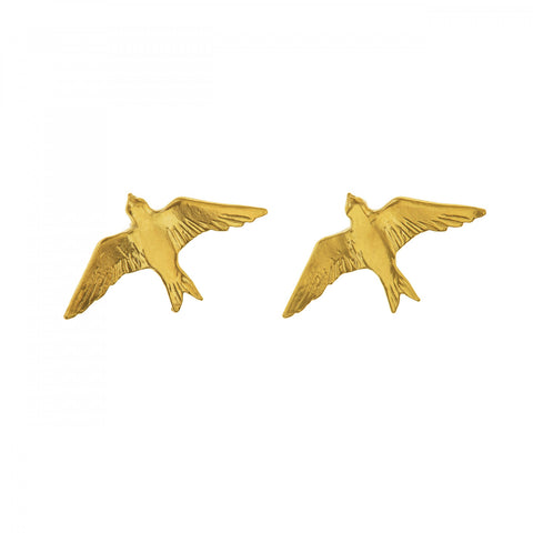 Flying Swallow Stud Earrings