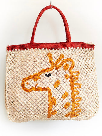 Giraffe- Natural with Orange