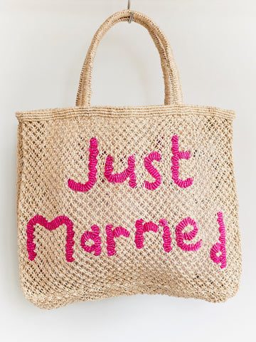 Just Married- Natural with Pink