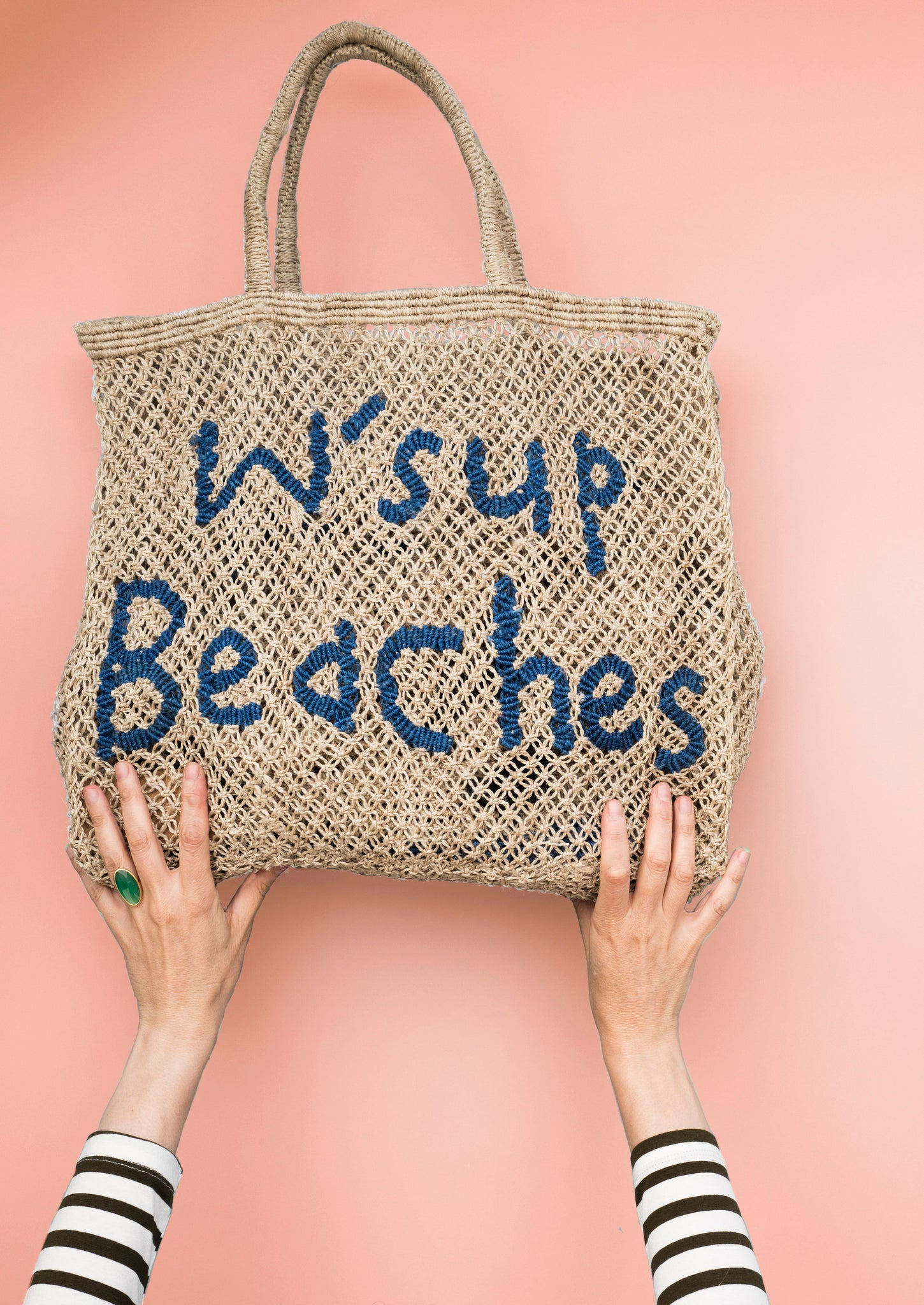 W'sup Beaches- Natural with Cobalt