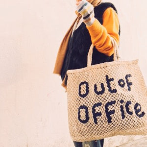 Out Of Office Natural and Navy Jute