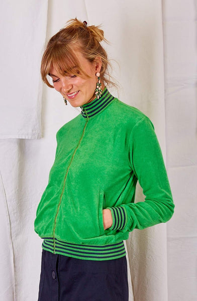 Green Zip Sweater