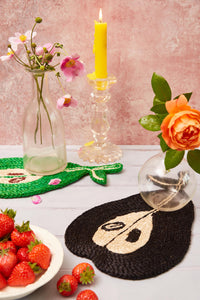 Pear placemat - Black