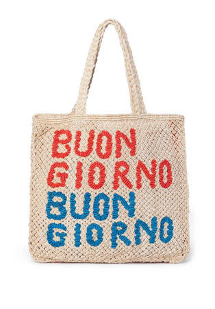 Buon Giorno- Natural with cobalt & red