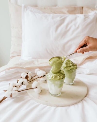 Breakfast in Bed: Dalgona Matcha