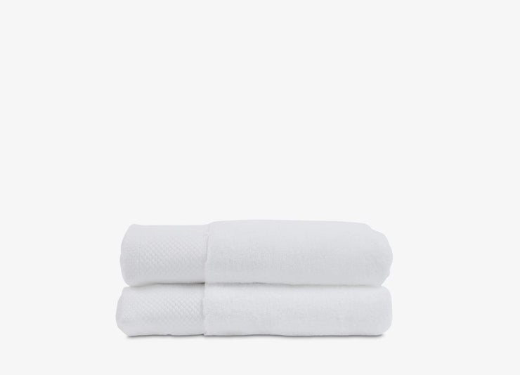 Set of 2 white stack cotton envello Hand Towels