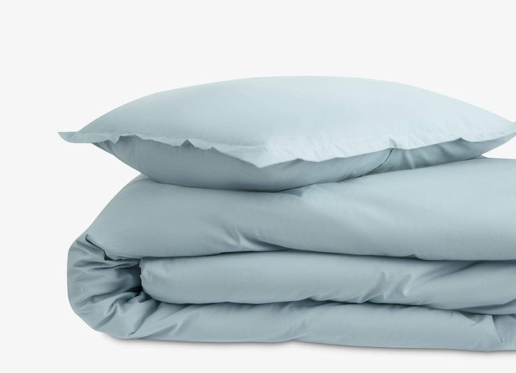envello blue cotton Premium Percale duvet set