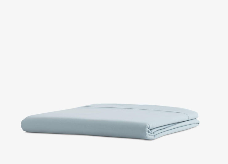 envello blue cotton Premium Percale flat sheet