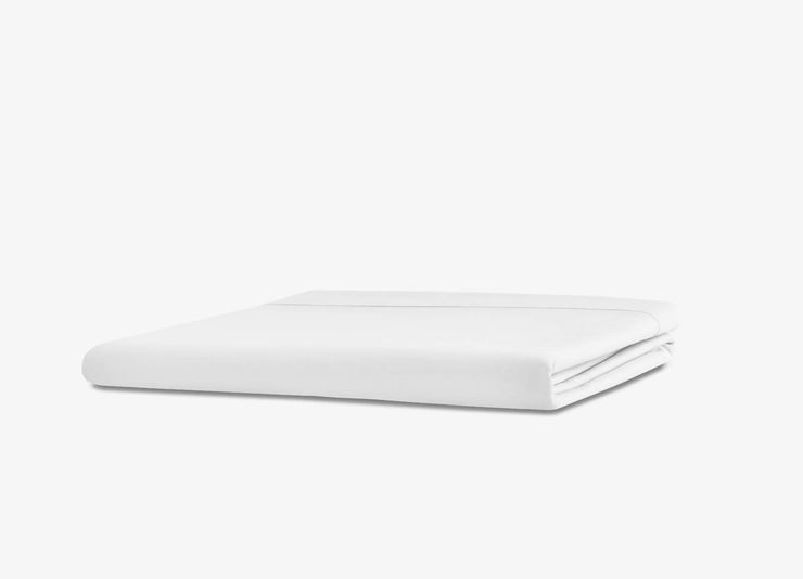 envello white cotton Premium Percale flat sheet