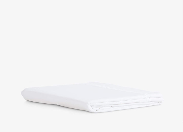 envello white cotton Select Sateen flat sheet