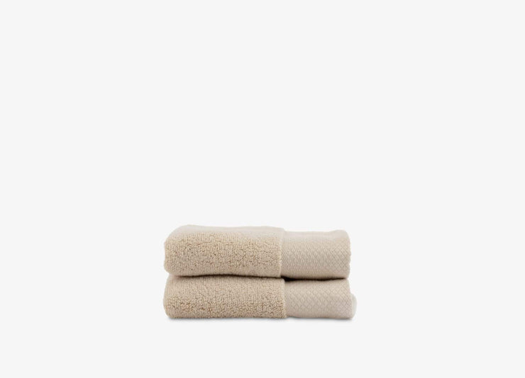Set of 2 envello bone coloured Washcloths