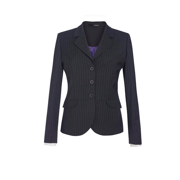 Susa Ladies Jacket Charcoal Pinstripe