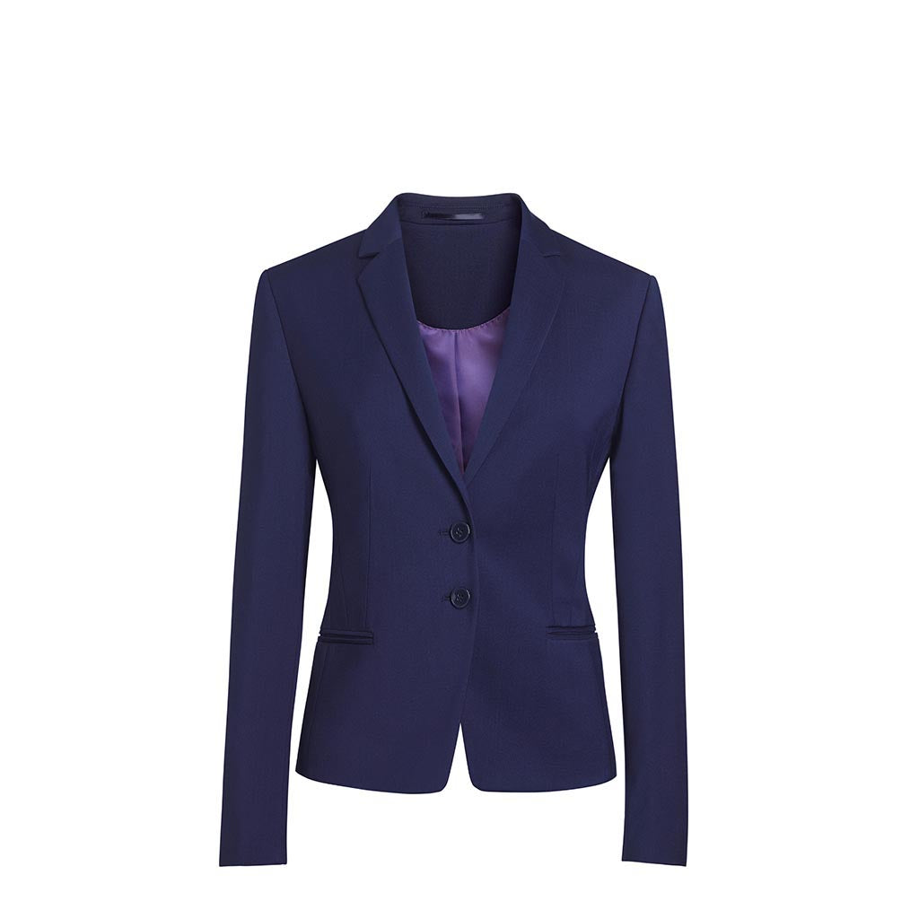 Calvi Slim Fit Jacket Mid Blue