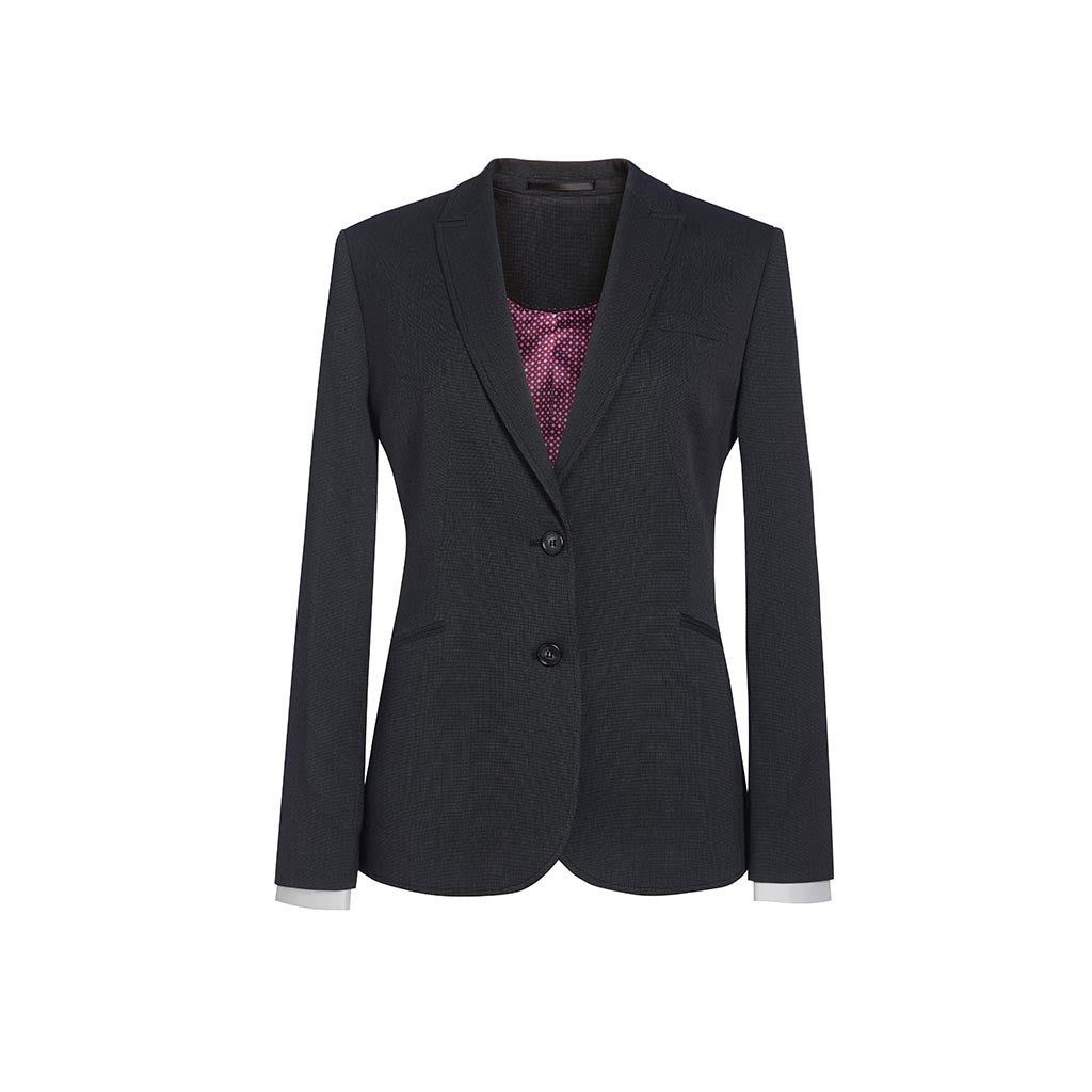 Cordelia Tailored Fit Jacket Charcoal Polka Dot