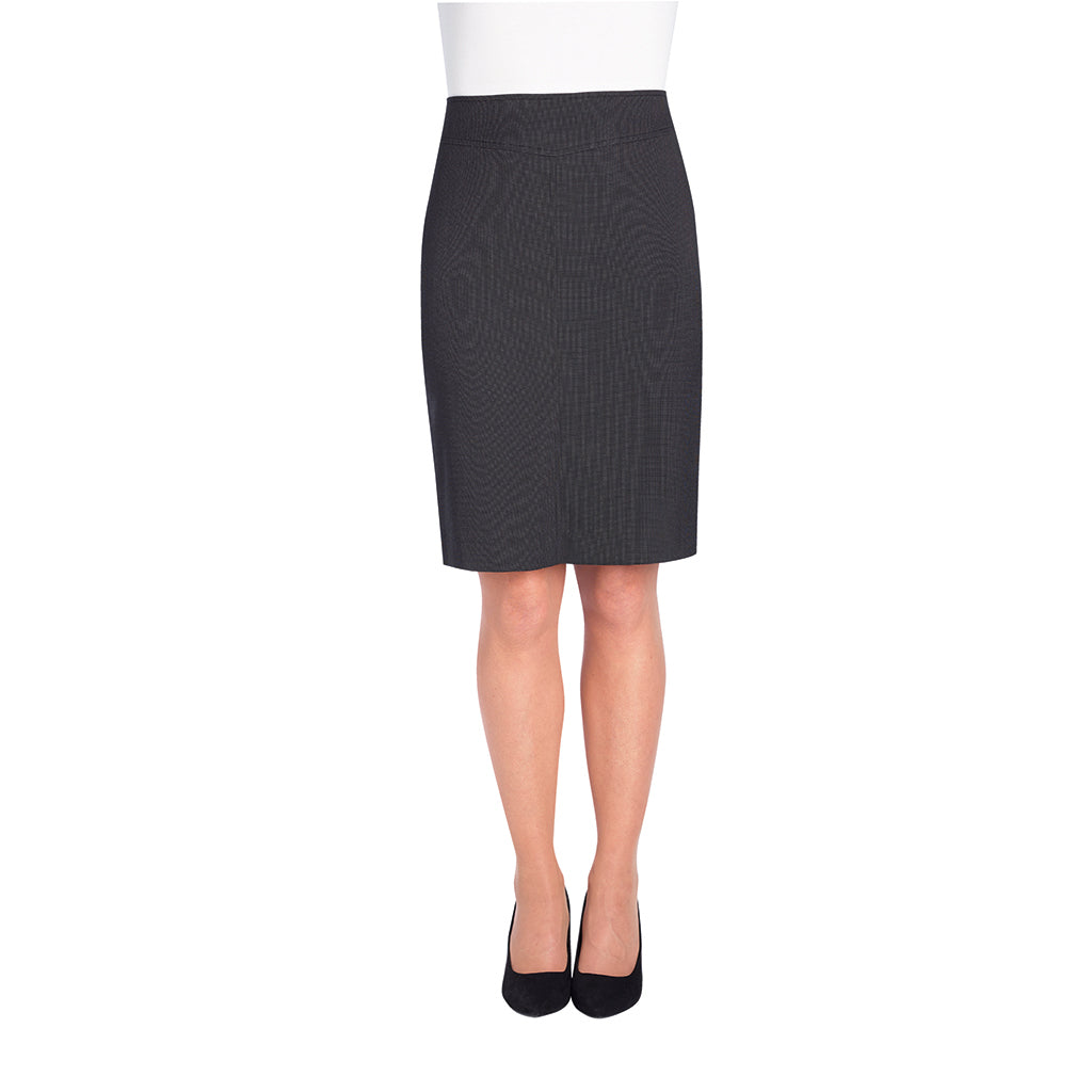 Juliet Straight Skirt Charcoal Polka Dot