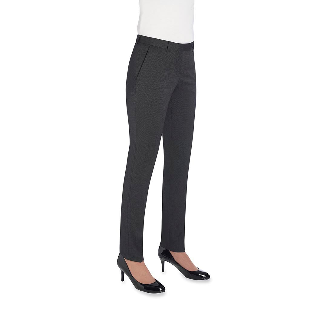 Ophelia Slim Fit Trouser Charcoal Polka