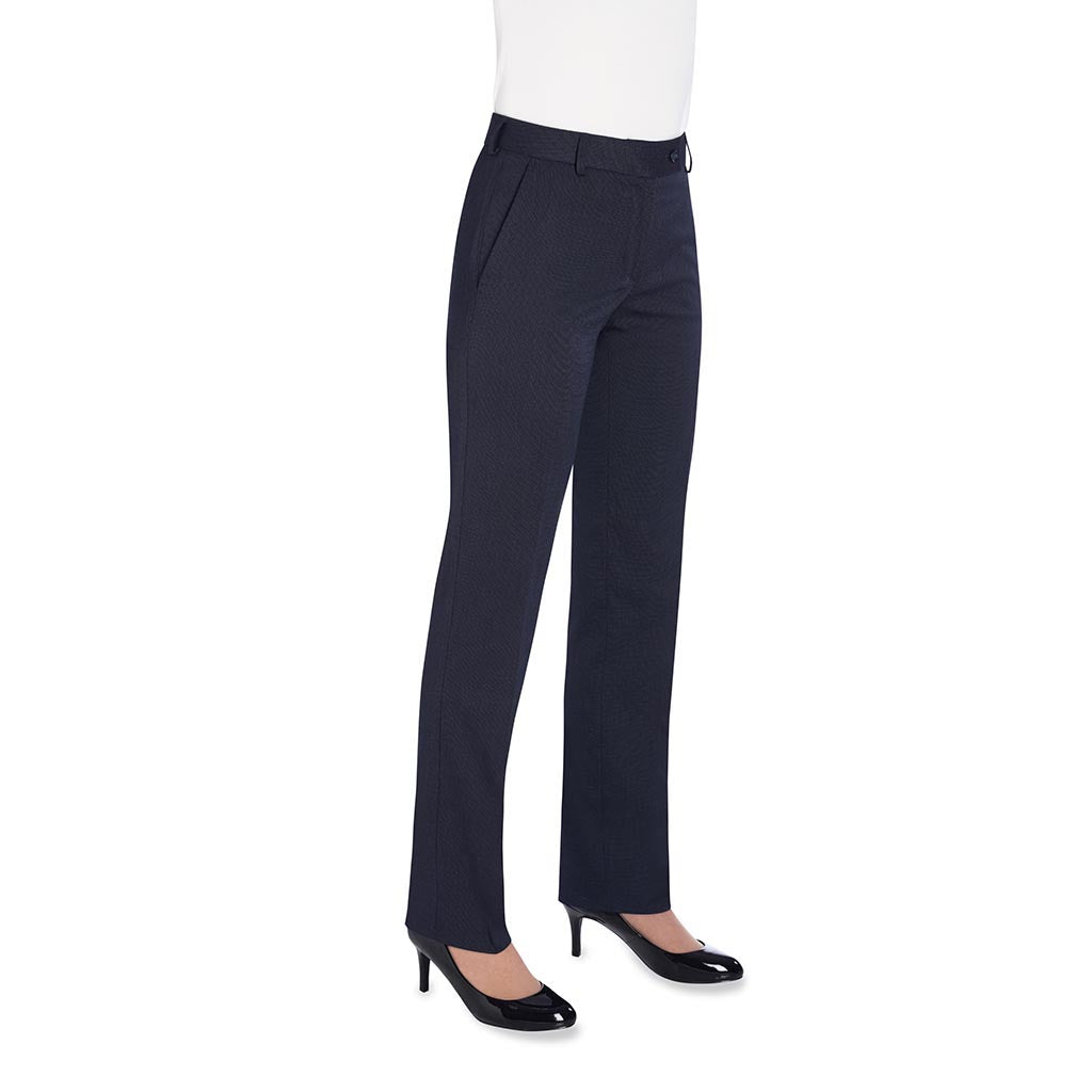 Bianca Tailored Fit Trouser Navy Polka Dot