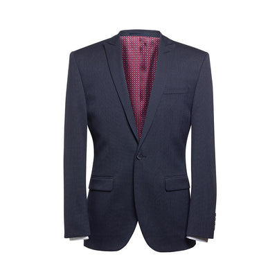 Pegasus Slim Fit Jacket Navy Polka Dot