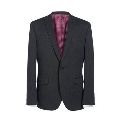 Pegasus Slim Fit Jacket Charcoal Polka Dot