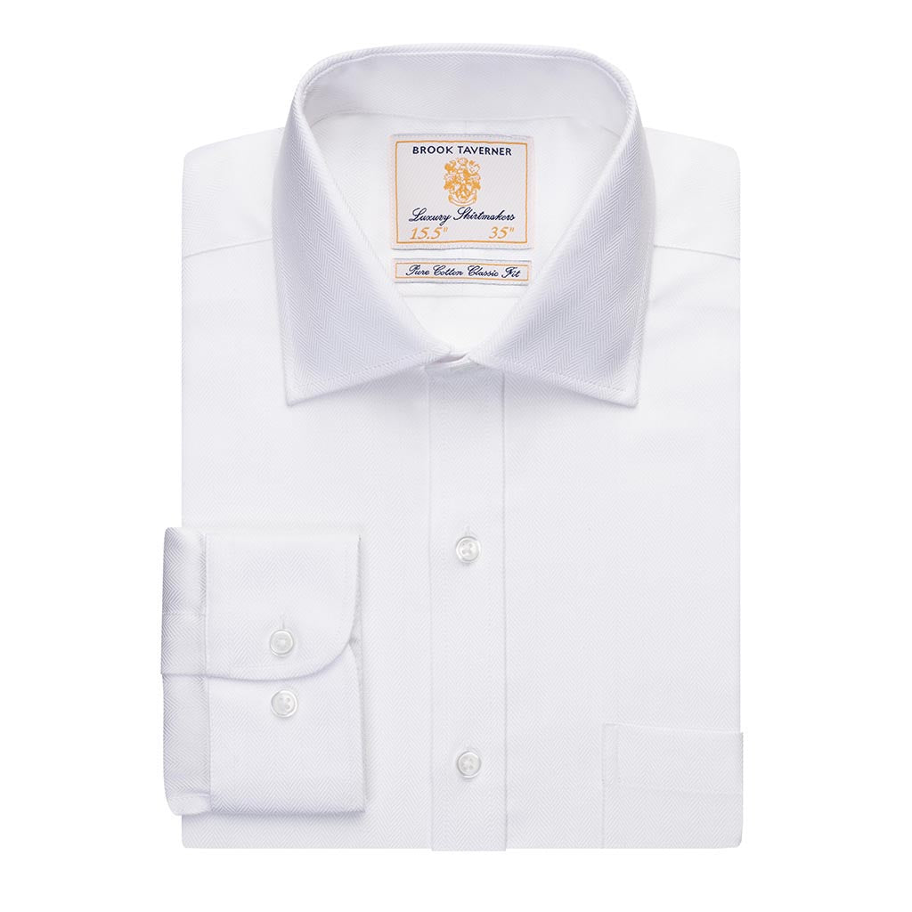 Altare Single Cuff Shirt Cotton Herringbone