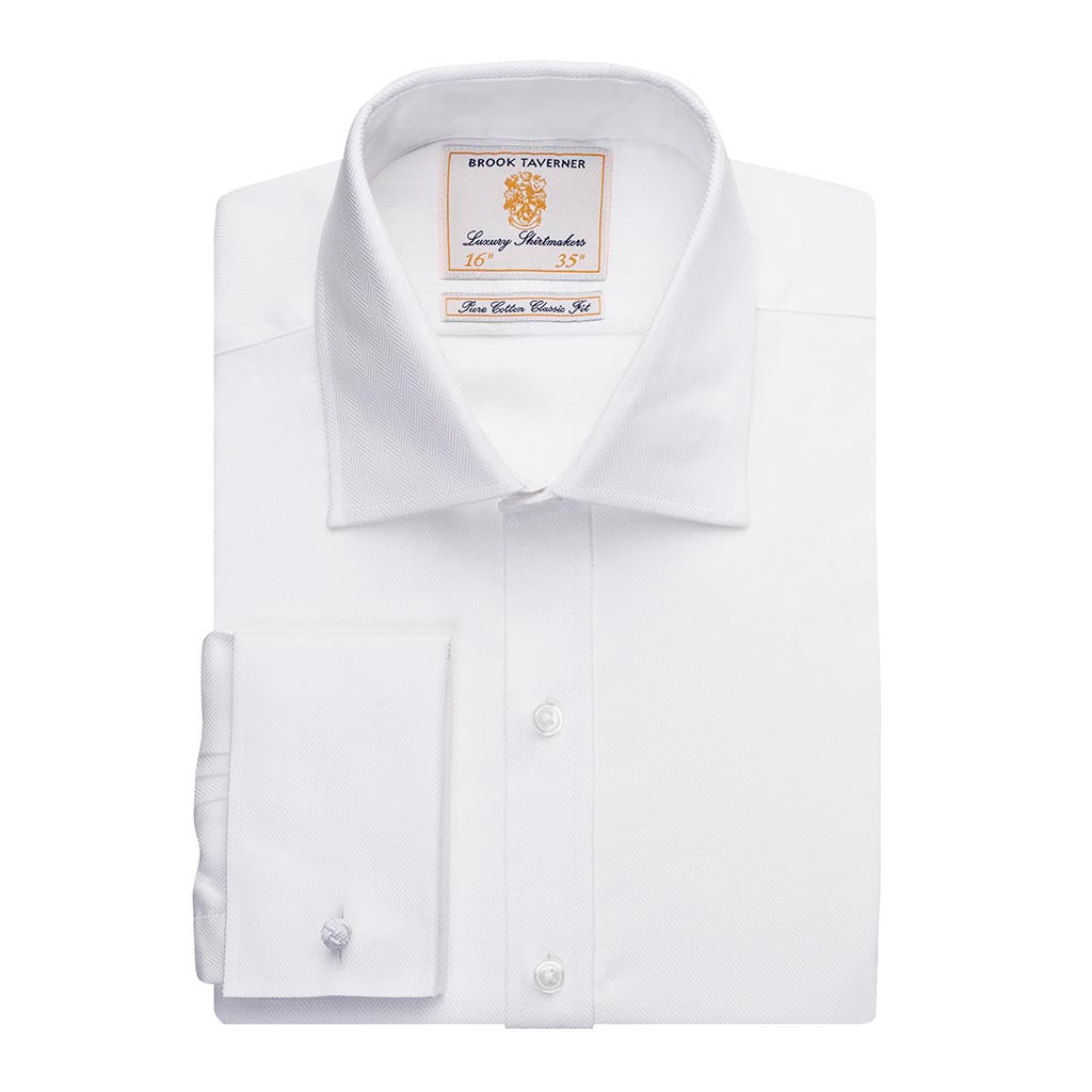 Andora Classic Fit Shirt Cotton Herringbone