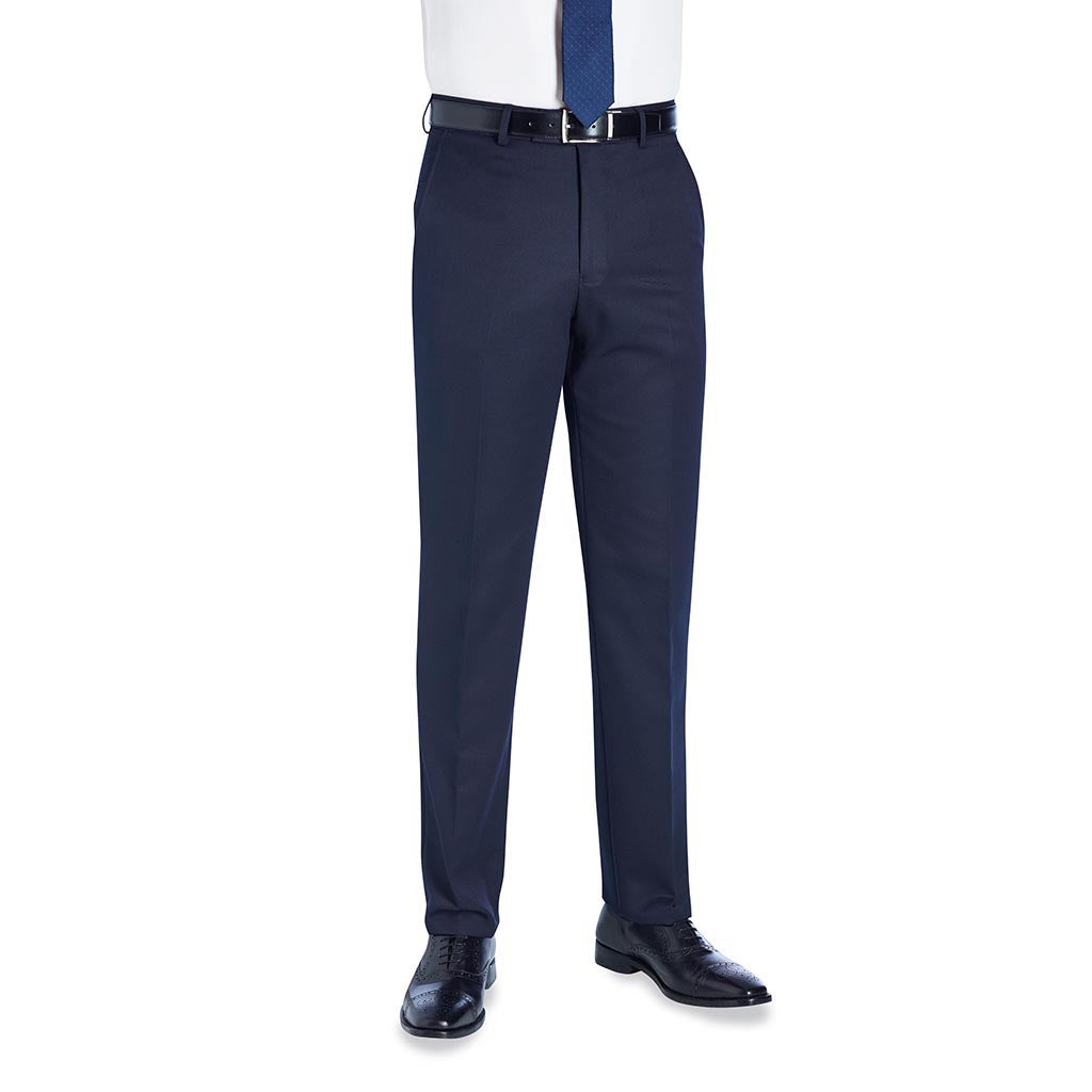 Delta Single Pleat Trouser Navy