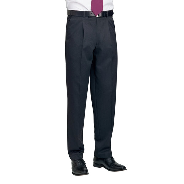 Delta Single Pleat Trouser Charcoal