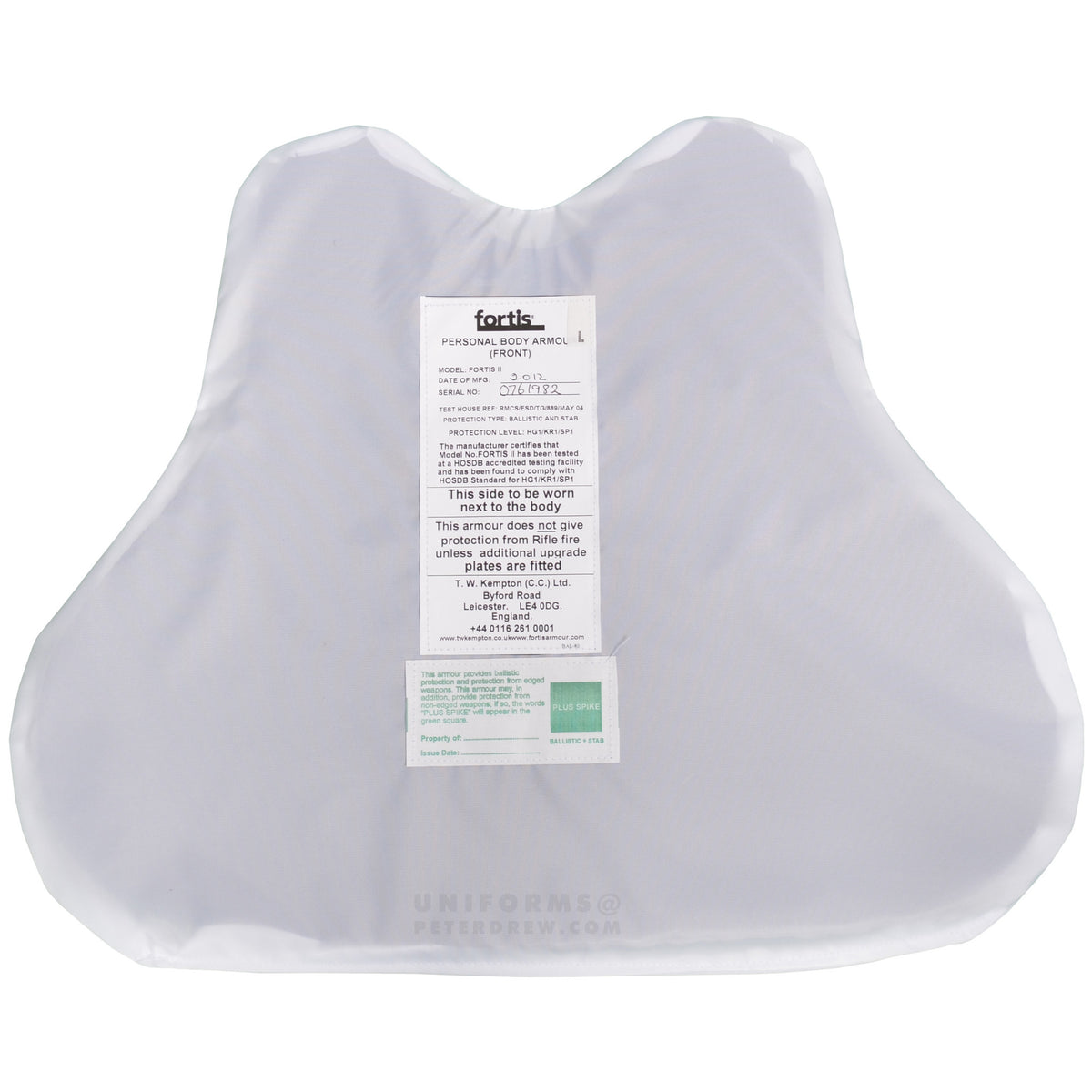 Covert Body Armour White - peterdrew.com  - 4