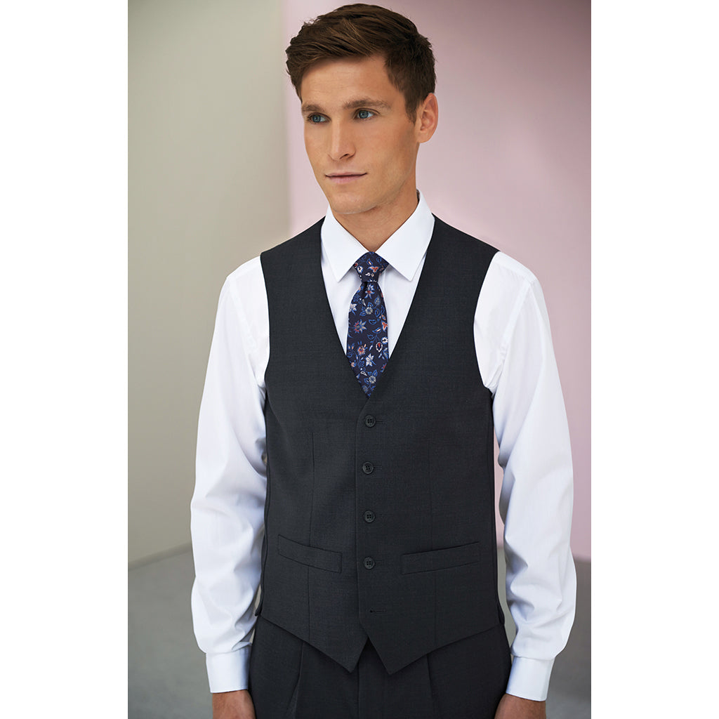 Busso Mens Waistcoat Charcoal