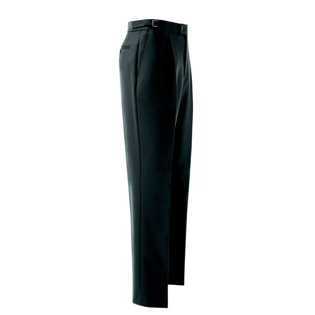 Herringbone Trouser Black